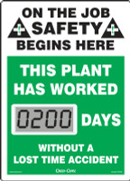 Mini Digi Day Electronic Safety Scoreboard- SCL200