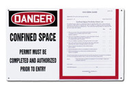 Confined Space Permit Holder Board