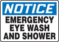 Notice - Emergency Eye Wash And Shower