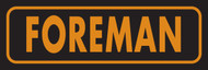 Foreman Hard Hat Decal