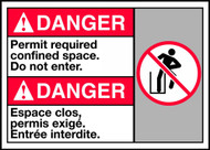 Danger Permit Required Confined Space Do Not Enter (W/Graphic)