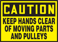 Keep Hands Clear Of Moving Parts And Pulleys