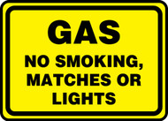 Gas No Smoking, Matches Or Lights