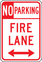 No Parking Fire Lane Sign-