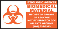 Etiologic Agents Biomedical Material- Hazardous Material Labels