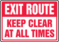 Exit Route Keep Clear At All Times
