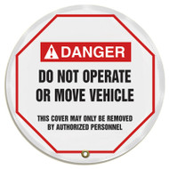 "Accuform KDD714 - ANSI Danger 16"" Steering Wheel Message Cover: Do Not Operate Or Move Vehicle"