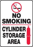 No Smoking Cylinder Storage Area
