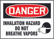 Inhalation Hazard Do Not Breathe Vapors (w/graphic)