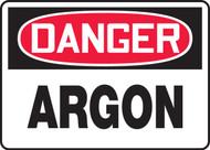 Danger - Argon - Dura-Plastic - 10'' X 14''