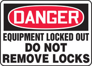 Danger - Equipment Locked Out Do Not Remove Locks
