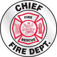 Chief Fire Dept.Helmet Sticker