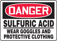 Danger - Sulfuric Acid Wear Goggles And Protective Clothing