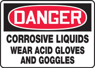 Danger - Corrosive Liquids Wear Acid Gloves And Goggles