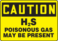 Caution - H2S Poisonous Gas May Be Present