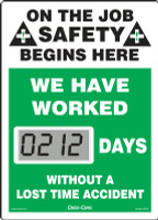 SCL212 Mini Digi Day Safety Scoreboard