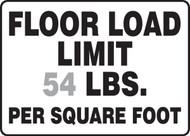 Floor Load Limit ____ Lbs. Per Square Foot