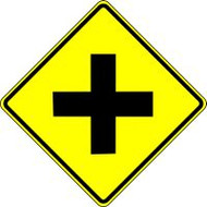Intersection Pictorial Traffic Sign