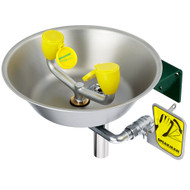 Speakman SE-490 Emergency Eyewash Wall Mount Stainless Steel Bowl