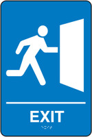Exit Sign ADA Braille Tactile Sign