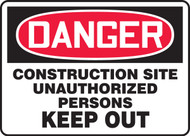 Danger - Construction Site Unauthorized Persons Keep Out