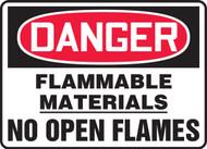 Danger - Flammable Materials No Open Flames