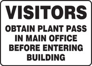 Visitors Obtain Plant Pass In Main Office Before Entering Building