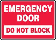 Emergency Door Do Not Block