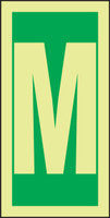 Letter M IMO Sign