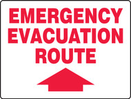 Emergency Evacuation Route Sign with Arrow Up