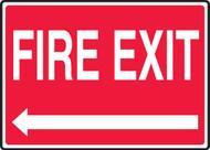 Fire Exit (Left Arrow) - Aluma-Lite - 7'' X 10''