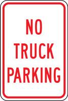 FRP148RA No Truck Parking Sign