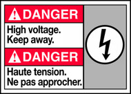 Danger High Voltage Keep Away Sign