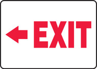 (Arrow Left) Exit - Adhesive Vinyl - 7'' X 10''