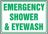 Emergency Shower & Eyewash Sign
