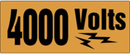 4000 Volts Sign