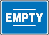 Empty Sign- Blue White
