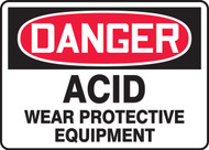 Danger - Acid Wear Protective Equipment