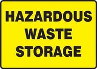 Hazardous Waste Storage Sign