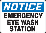Notice - Emergency Eye Wash Station