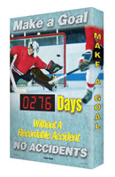 Safety Scoreboards for Outdoor Use Digi Day Plus Hockey Accuform SCM330
