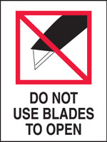 Do Not Use Blades To Open Shipping Labels