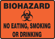biohazard no eating smoking or drinking sign MBHZ503VP