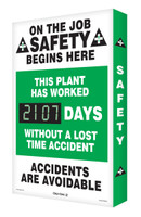 Digi Day 2 Electronic Safety Scoreboard  On The Job Safety Begins Here SCG107