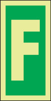 Letter F IMO Sign