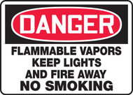 Danger - Flammable Vapors Keep Lights And Fire Away No Smoking