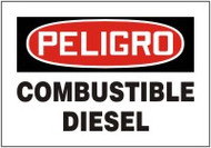 """Combustible Diesel Safety Sign 7"""" X 10"""""""