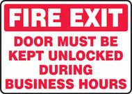Fire Exit Door Must Be Kept Unlocked During Business Hours