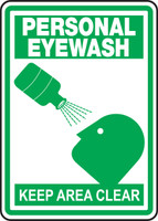 MFSD520VP Personal Eyewash Keep Area Clear Sign