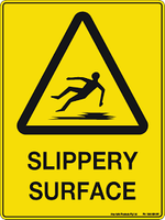 Slippery Surface Hazard - Plastic - 6''